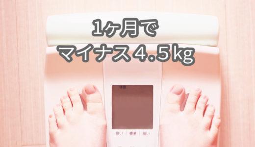 1ヶ月で-4.5kg減少!ついに終了!【FITFES】29〜35日目